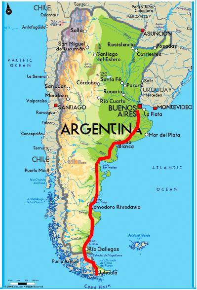 Patagonia Cartina Geografica.2015 Argentina E Patagonia
